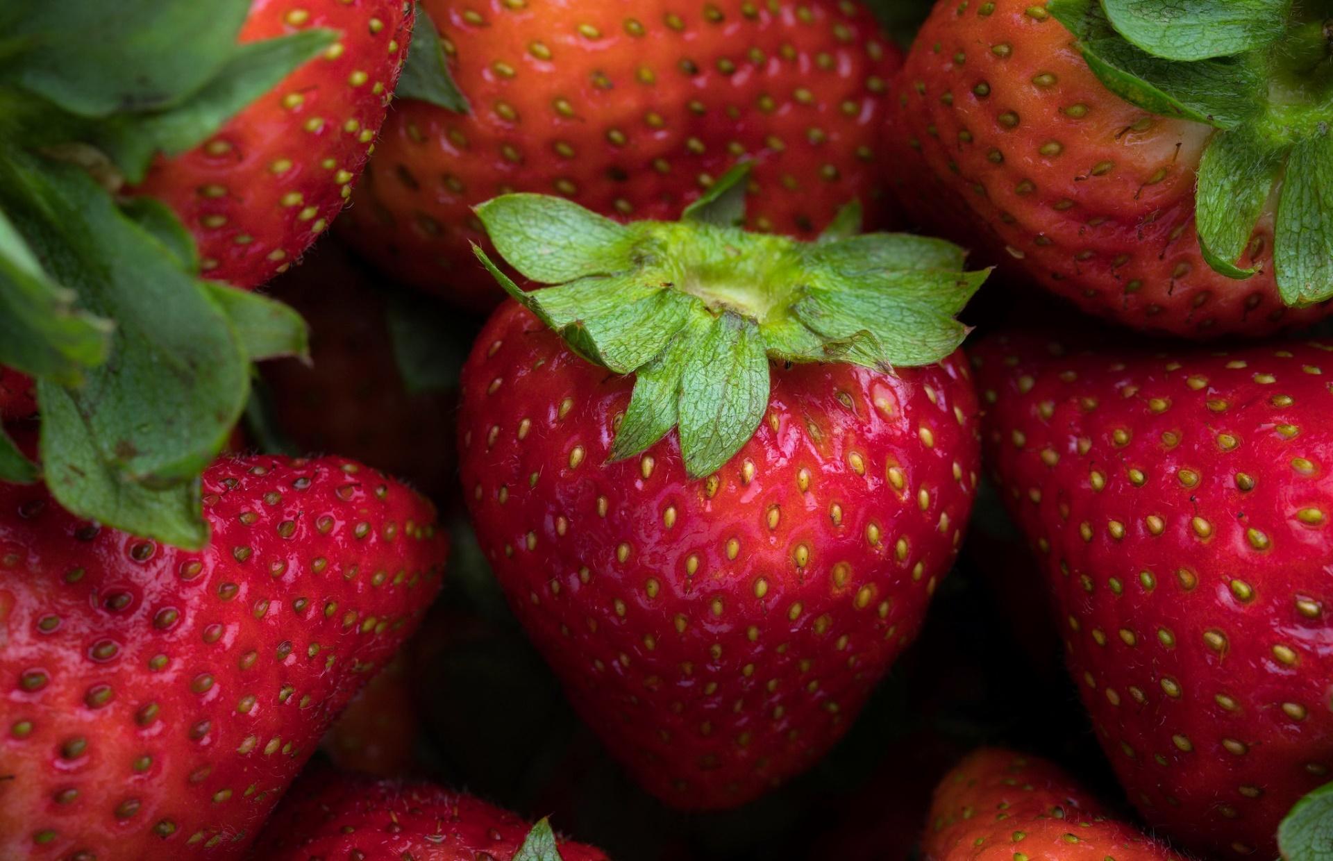 strawberries fruit red food