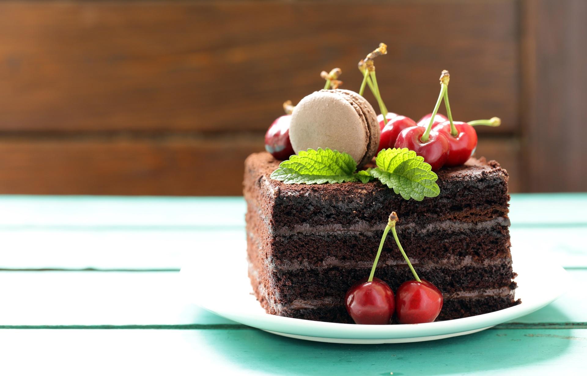 sweets cake cherries food fruit