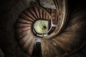 abandoned stairs stairway building