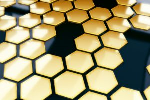 abstract 3d abstract hexagon geometry