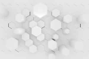 abstract hexagon 3d abstract white