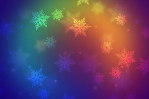 abstract snowflakes digital art colorful gradient
