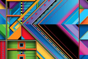 abstract square triangle colorful digital art geometry rectangle lines