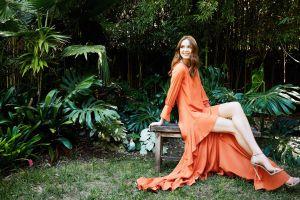 actress dress redhead karen gillan high heels