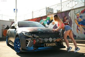 alexander isaev sneakers high waisted short belly jean shorts depth of field outdoors crop top women with cars car women model tuning women outdoors