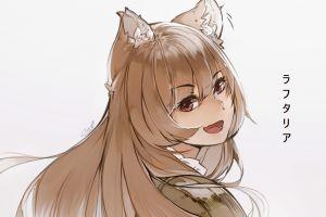 animal ears tate no yuusha no nariagari raphtalia smiling long hair anime girls red eyes