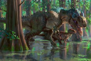animals artwork dinosaurs nature
