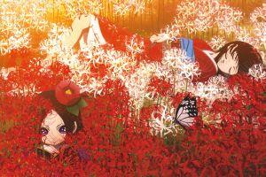 anime girls anime plants jigoku shoujo enma ai