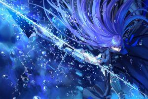 anime girls meltlilith long hair fate/grand order purple hair anime