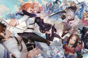 anime liduke anime girls fate/grand order open mouth anime boys