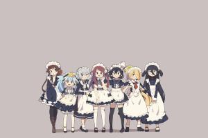 anime simple background zombieland saga anime girls