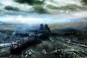 apocalyptic eiffel tower destruction paris