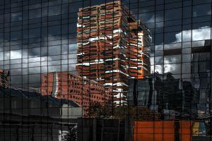 architecture cityscape building reflection glass