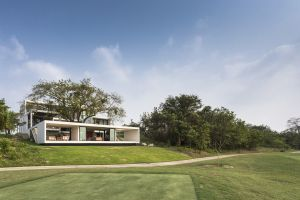 architecture golf course modern house
