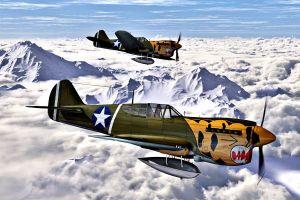 artwork curtiss p-40 warhawk aircraft military aircraft vehicle