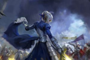 artwork fantasy art saber (fate/grand order) anime anime girls fate series digital art