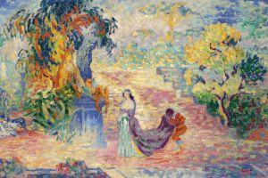 artwork painting classic art garden women