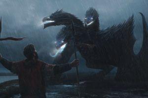 artwork rain creature fantasy art