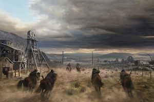 artwork western horse riding