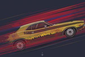 artwork yellow cars car vehicle