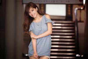 asian model women brunette photography long hair