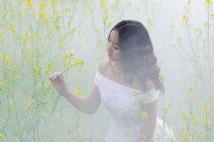 asian plants women outdoors women flowers