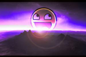 awesome face horizon mountains purple
