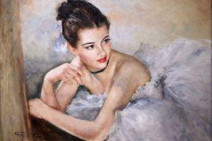 ballerina women painting artwork