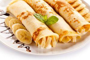 bananas food crepes pancakes