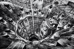barcelona building monochrome architecture