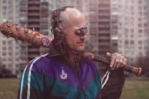 baseball bat men cyborg futuristic