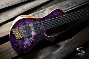bass guitars multiscale hand made skervesen 6 string poland skervesen prometheus fanned frets
