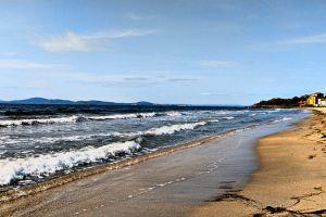 black sea waves beach shore sea