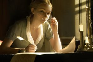 blonde writing fan art glasses table movies women women with glasses paper artwork painting long hair feathers candles