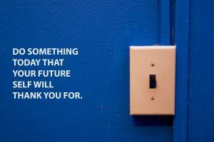 blue background switch motivational