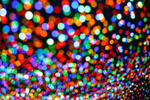 blurred abstract lights colorful circle bokeh dark background photography
