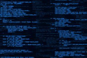 blurred programming blue background web development glowing code programming language blue computer