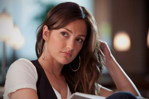 brunette actress earring hoop earrings minka kelly brown eyes