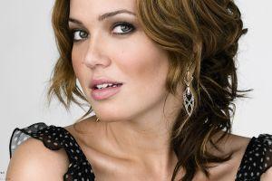 brunette mandy moore women actress face