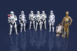c-3po stormtrooper r2-d2 trooper