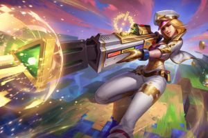 caitlyn league of legends gameboy advance arcade  arcade skins gold the prestige video game girls arcade machine caitlyn (league of legends) video game characters