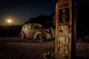 car night sky old night vehicle