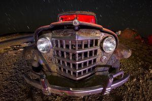 car vehicle night sky