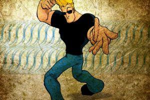 cartoon johnny bravo blonde