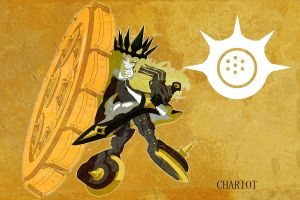 chariot (black rock shooter) shield long hair armor yellow eyes weapon blonde anime girls dress gloves black rock shooter (series) crown sword simple background