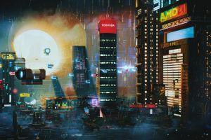 cityscape futuristic city futuristic