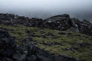 clouds landscape mist rocks mountains nature digital art