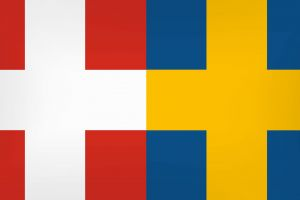 colorful sweden flag denmark