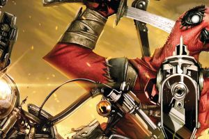 comic art comics gun comic books marvel comics deadpool superhero motorcycle