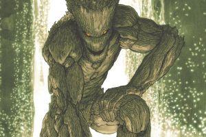 comics comic art marvel comics guardians of the galaxy green groot comic books